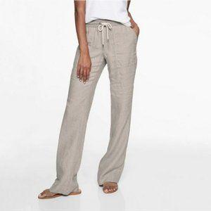ATHLETA Bali Striped Linen Wide Leg Trouser